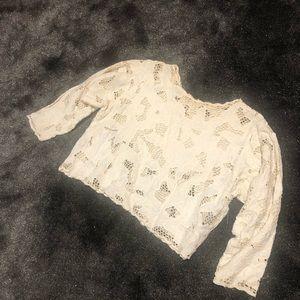 Vintage crop top lace